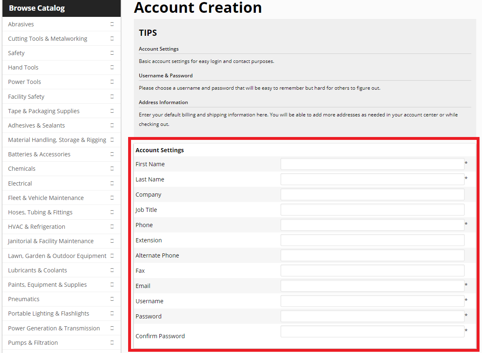 Create Customer Account Fields